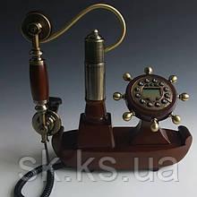 Стационарный деревяный gsm телефон sertec D8