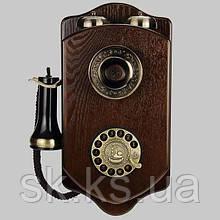 Стационарный деревяный gsm телефон sertec D7