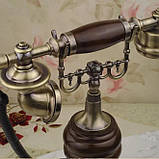 Стационарный деревяный gsm телефон sertec D9, фото 4