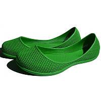 Женские силиконовые балетки, аквашузы, коралки, Зеленый