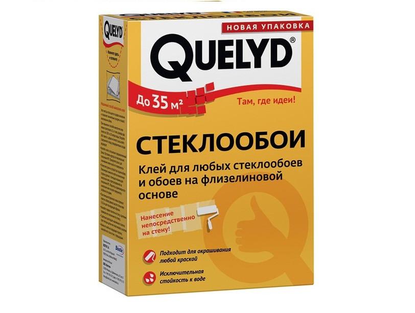 Клей обойный QUELYD СТЕКЛООБОИ для стеклохолста и стеклообоев, 500гр