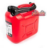 Канистра пластиковая CarLife, 5 литров, СА5, для бензина и дизеля с лейкой
