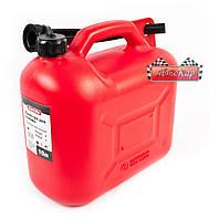 Канистра пластиковая CarLife, 10 литров, СА10, для бензина и дизеля с лейкой