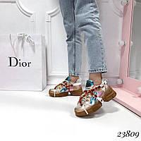Женские кроссовки Gucci Гуччи  с камнями цвета в ассортименте  (реплика)