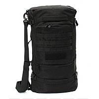 Сумка-рюкзак тактическая R101 черная, 50 л, фото 1