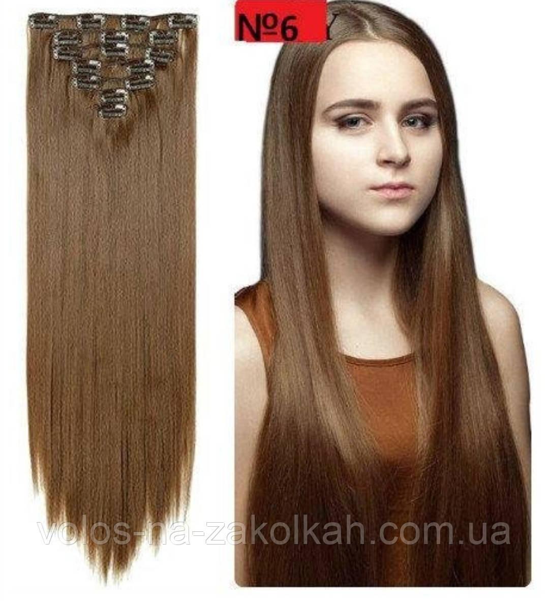 Волосы на заколках русый