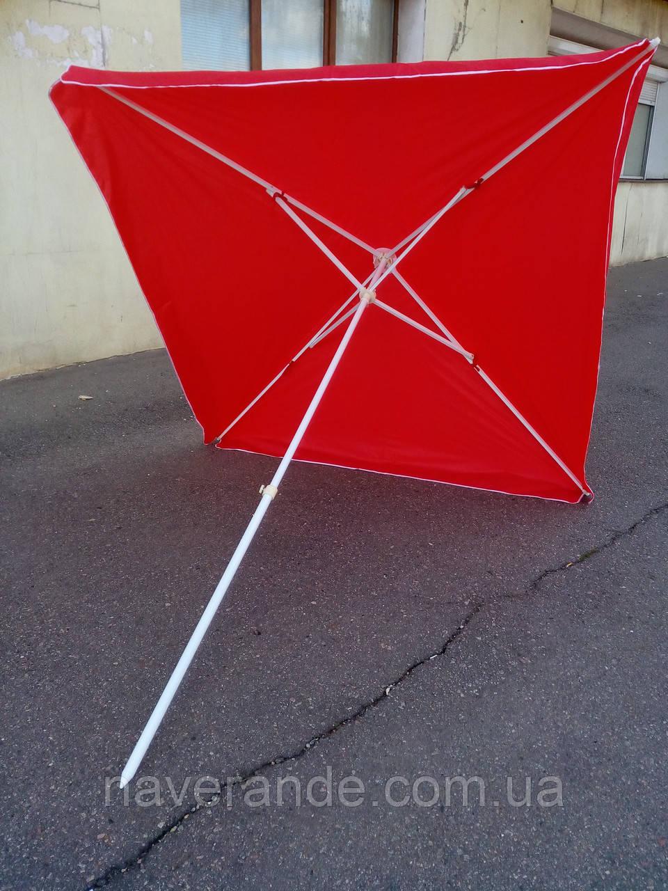 Квадратный пляжный зонт от солнца (красный 2,5х2,5 м), фото 1