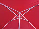 Квадратный пляжный зонт от солнца (красный 2,5х2,5 м), фото 4