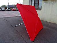 Квадратный пляжный зонт от солнца (красный 3х3 м с клапаном), фото 1