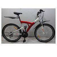 """Велосипед спортивный подростковый PROFI 26"""" M2615E, красно-белый"""