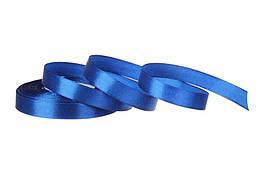 Стрічка атласна 12 мм 23 метри синій