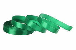 Стрічка атласна 12 мм 23 метри зелений