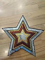 Звезда аппликация ширина 23*23см