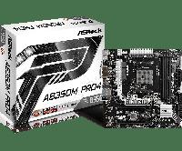 Материнская плата ASRock AB350M Pro4 (sAM4/B350/VGA/PCI-E/SATA III)
