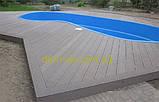Массивная террасная доска Tardex/Тардекс Professional BRUSH- цвет венге, графит, натур, антрацит Антрацит, фото 8