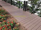Массивная террасная доска Tardex/Тардекс Professional BRUSH- цвет венге, графит, натур, антрацит Антрацит, фото 9