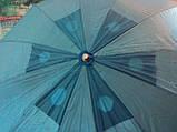 Круглый пляжный зонт 10 спиц (однотонный D 2,4 м, с клапаном), фото 2
