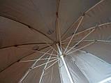 Круглый пляжный зонт 10 спиц (однотонный D 2,4 м, с клапаном), фото 3