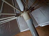 Круглый пляжный зонт 10 спиц (однотонный D 2,4 м, с клапаном), фото 4