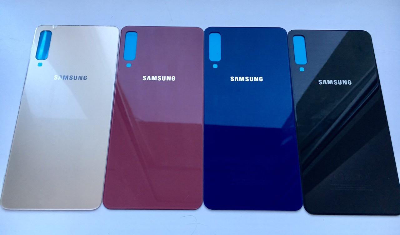 Задня кришка для Samsung A750 A7 2018 золотистий