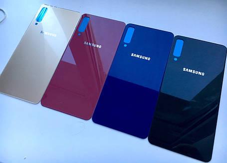 Задня кришка для Samsung A750 A7 2018 золотистий, фото 2