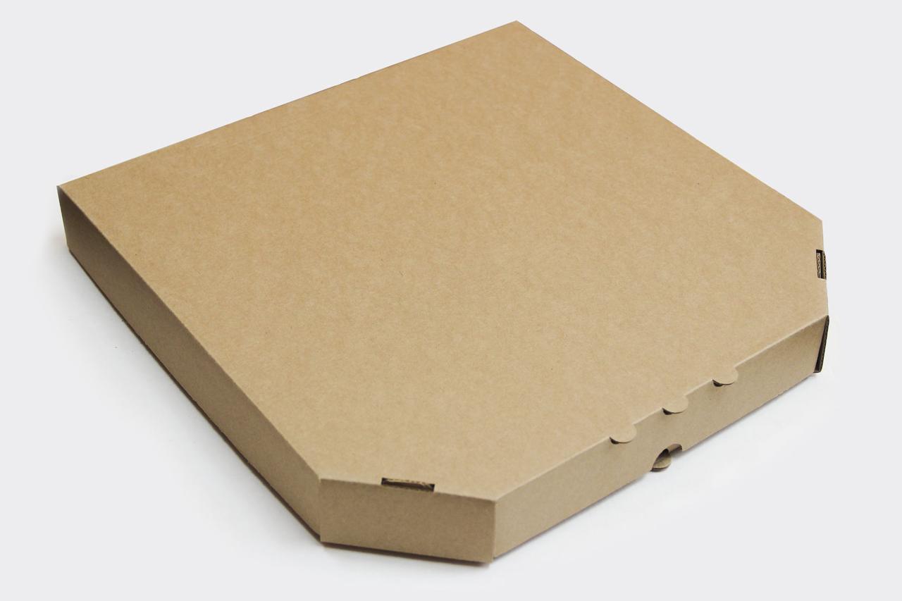Коробка для пиццы 410х410х40 мм, бурая, 50 шт/уп.