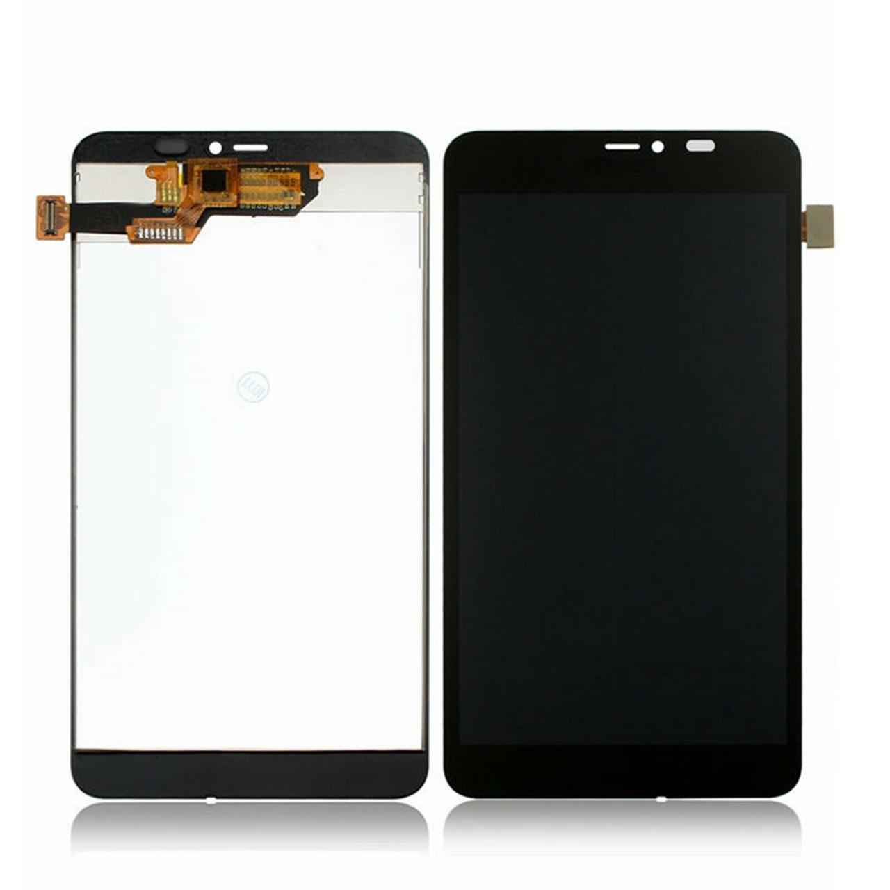 Дисплей (экран) для Microsoft (Nokia) 640 XL Lumia Dual Sim (RM-1062) с сенсором (тачскрином) черный Оригинал