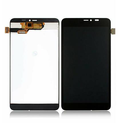 Дисплей (экран) для Microsoft (Nokia) 640 XL Lumia Dual Sim (RM-1062) с сенсором (тачскрином) черный Оригинал, фото 2