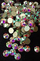 Стразы клеевые копия Swarovski SS12 (3,0 мм) Crystal AB, 16 граней. Цена за 144 шт, фото 1