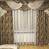 Комплект шторы и ламбрекен для гостиной современный, фото 3