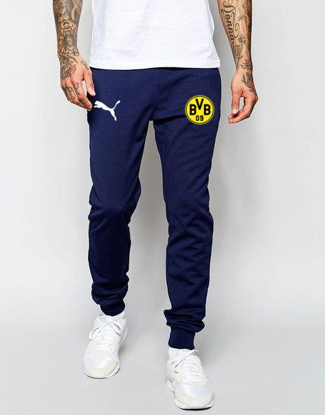 Чоловічі футбольні штани Боруссія, Borussia, сині