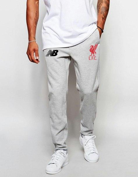 Чоловічі футбольні штани Ліверпуль, Liverpool, сірі