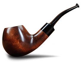 Трубка Шерлока Холмса KAF202 Bent Apple под фильтр 9 мм из дерева груши