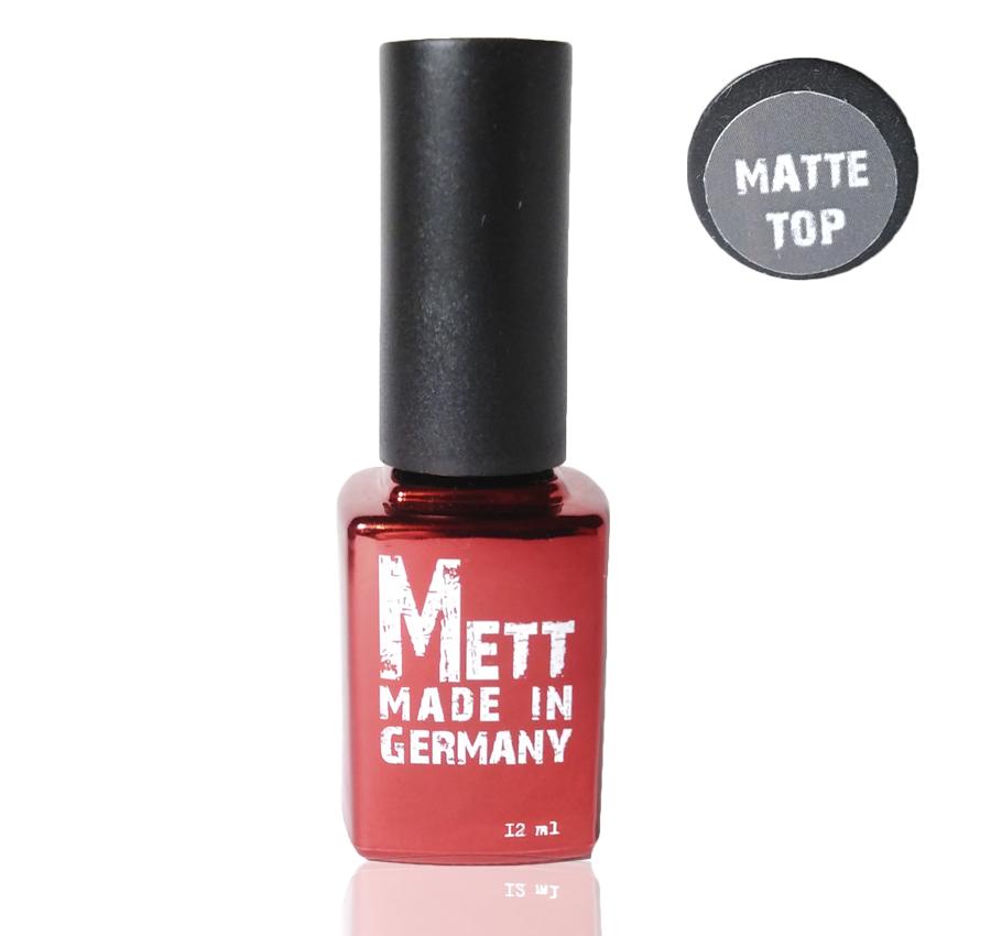 Матовый топ для гель-лаков METT Германия, 12 мл
