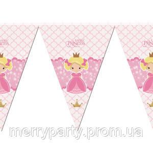 2 м Гирлянда-флажки Принцессы-2 (вымпел)