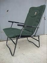 Карповое кресло Elektrostatyk с подлокотниками (нагрузка до 90 кг) (F7R), фото 3