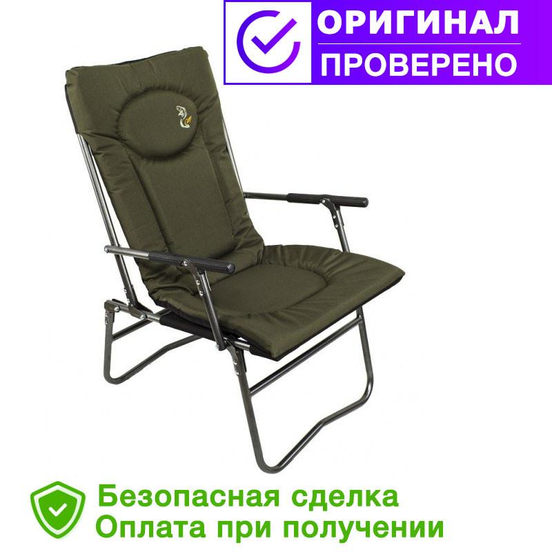 Карповое кресло Elektrostatyk с подлокотниками (нагрузка до 90 кг) (F7R)