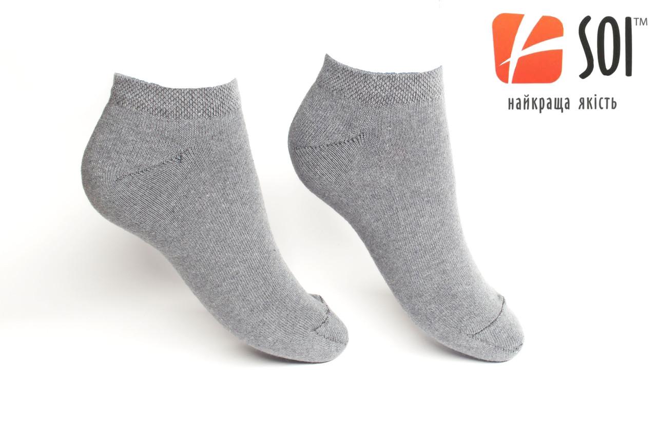 Шкарпетки короткі чоловічі слід 29 р. (43-44) Сірий