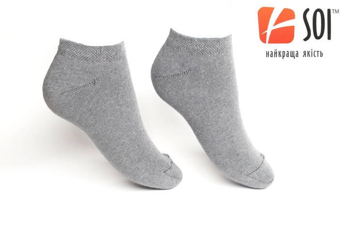 Шкарпетки короткі чоловічі слід 29 р. (43-44) Сірий, фото 2