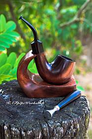 Курительный набор - курительная трубка KAF226 Bent с подставкой и тампером