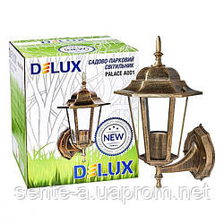 Светильник садово - парковый PALACE A001 E27 60W IP44 черн.-золото  Delux