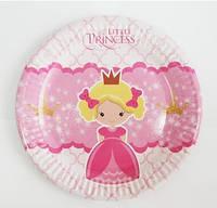 18 см 10 шт./упак. Набор тарелок  Принцессы-2 бумажные розовый