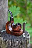 Курительный набор - курительная трубка KAF226 Bent с подставкой и тампером, фото 2