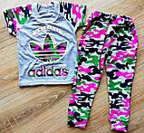 Детский костюм футболка и штаны спортивные Адидас камуфляж размеры 28, фото 2
