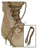 Шнурки 140 см песочного цвета MIL-TEC Coyote  2 пары 12912205