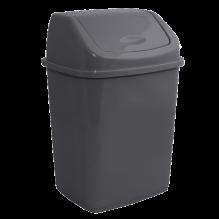 Пластиковое ведро для мусора с поворотной крышкой, 27 л.