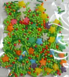 """Посыпка сахарная для кондитерских изделий """"Цветы, трава"""""""