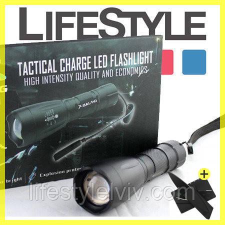 Мощный тактический фонарь Bailong Police BL-1891-T6 50000W