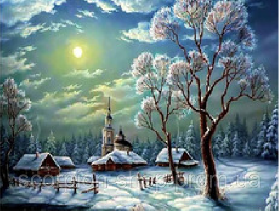 """Картина по номерам """"Зима"""" (40*50 см)"""
