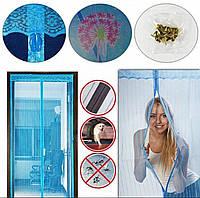 Москитная сетка с магнитами на дверной проем